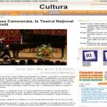 Romania Libera - Stagiunea Cammerata, la Teatrul Naţional de Operetă
