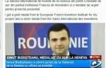 Antena 3: Ionuţ Budişteanu, două medalii la Salonul Internaţional de Inventică de la Geneva